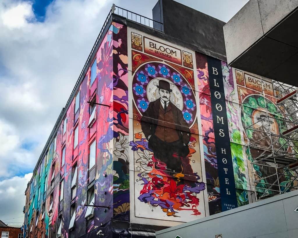 Ireland - Dublin - Blooms Hotel Mural Street Art