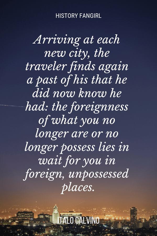 Italo Calvino Travel Quote