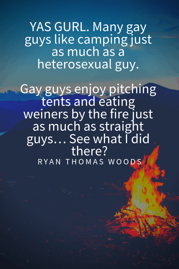 Ryan Thomas Woods quotes about harmful gay stereotypes in travel