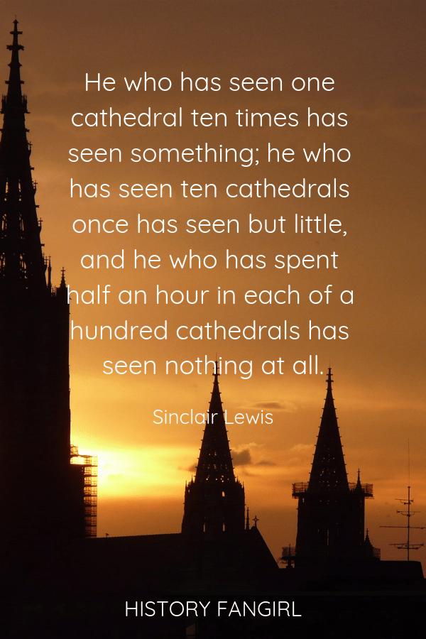 Sinclair Lewis Travel Quote