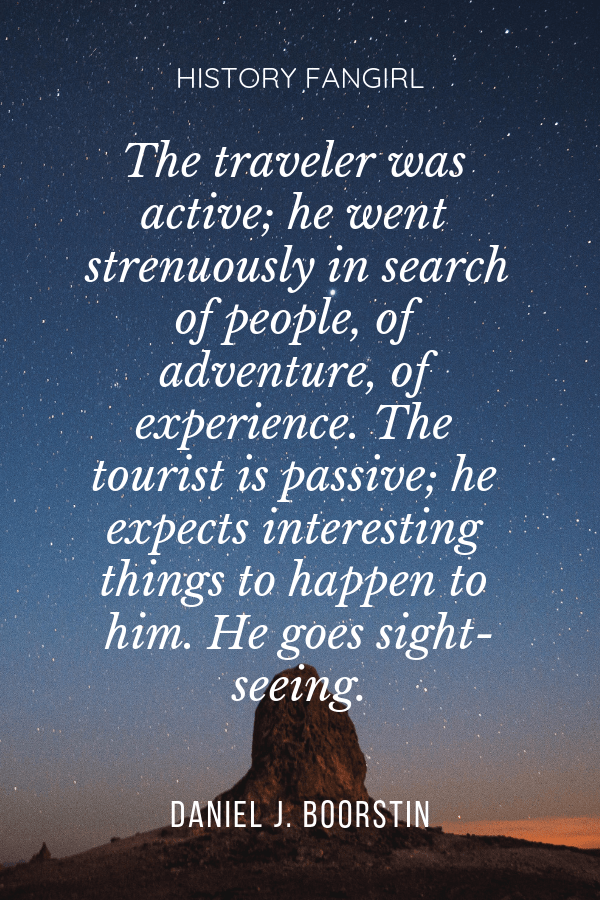 traveler versus tourist quote