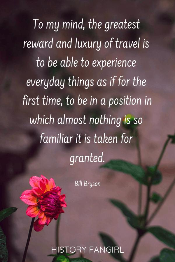 Bill Bryson Travel Quotes