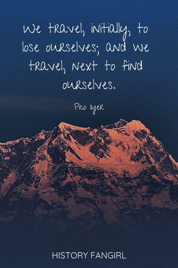 We travel, initially, to lose ourselves; and we travel, next to find ourselves. Pico Iyer quotes about travellers