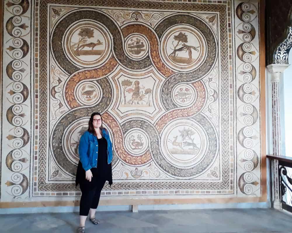 Tunisia - Tunis - Stephanie at the Bardo Museum - Photographs of Tunisia Historical Sites