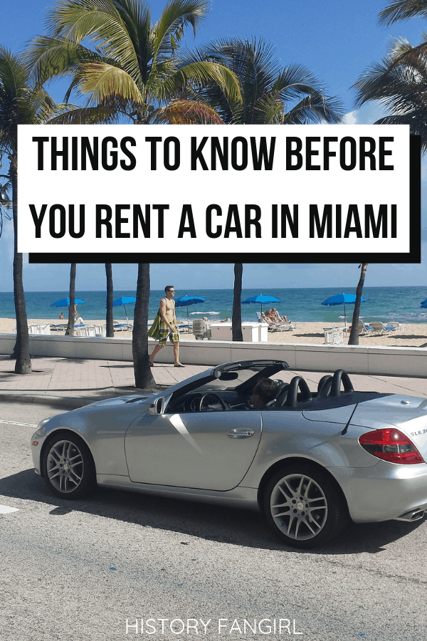 21 Things to Know Before You Rent a Car in Miami