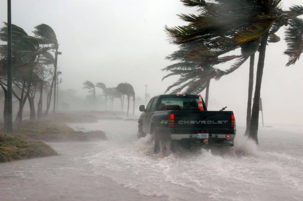 Florida - Key West - Driving in a Hurricane