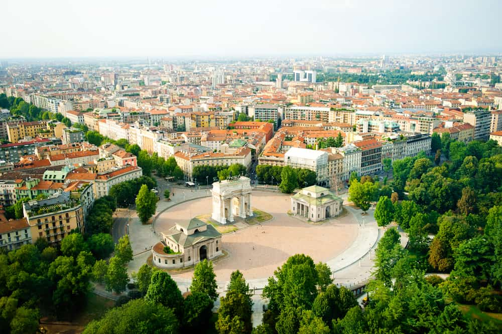 Italy - beautiful panoramic view of Milan
