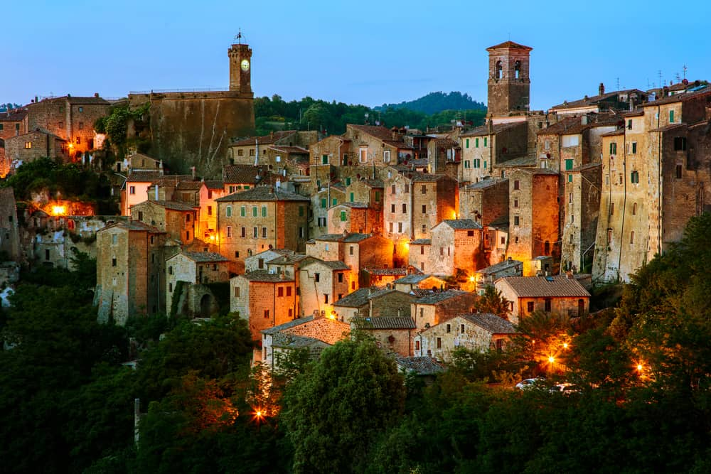 Beautiful medieval town in Tuscany, Sorano