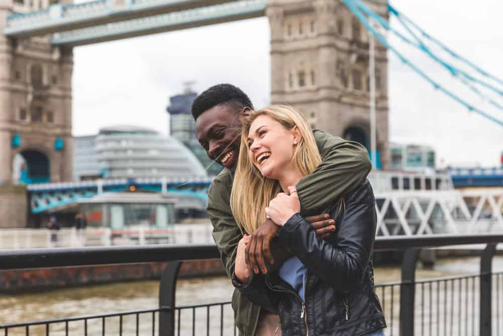 United Kingdom - London - Couple in front of Tower Bridge