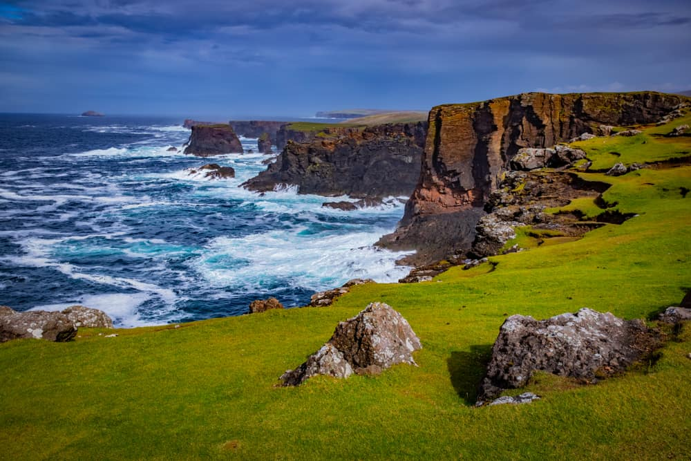 UK -Scotland - Scotland, Shetland Islands, Beautiful view of island - Image