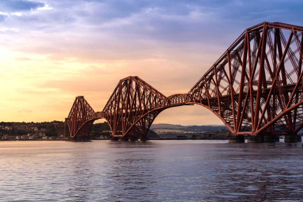 UK - Scotland - The Forth bridge, UNESCO world heritage site railway bridge in Edinburgh Scotland UK. - Image