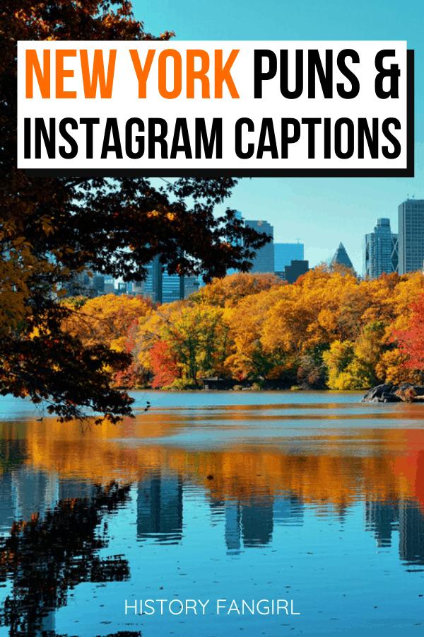 New York Puns and New York Jokes for New York Instagram Captions