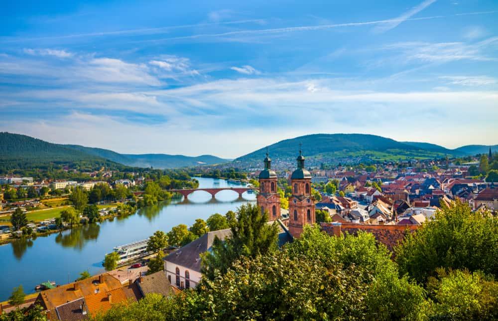 Germany - Medieval German town Miltenberg on Main river, Bavaria.