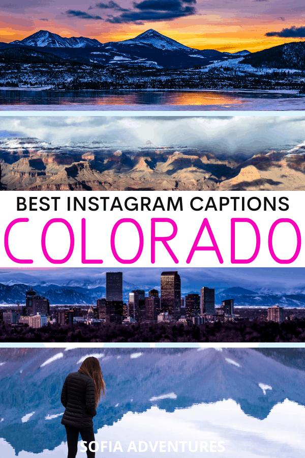 Quotes about Colorado for Colorado Instagram Captions