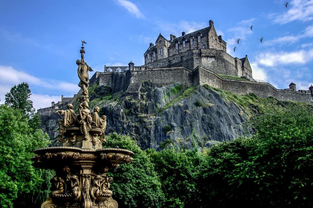 UK - Scotland - Edinburgh Castle during summer, Scotland.