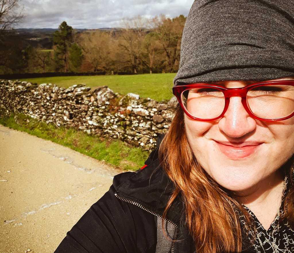 Spain - Galicia - Stephanie walking the Camino