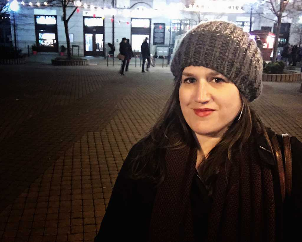 Slovakia - Bratislava - Stephanie at Night