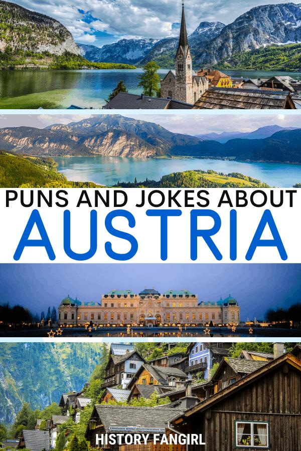 Jokes about Austria Puns for Austria Instagram Captions and Austria WhatsApp Status