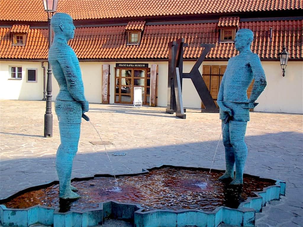 Piss Statue outside Kafka Museum