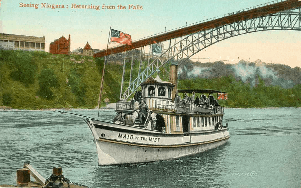 USA - New York - Niagara Falls - Maid on the Mist Vintage Postcard