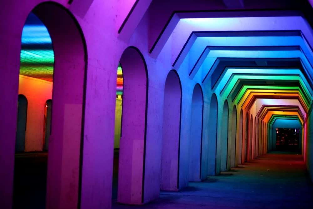 USA - Birmingham - Rainbow Light Tunnel