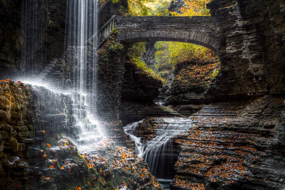 United States - New York - Ithaca - Rainbow Falls