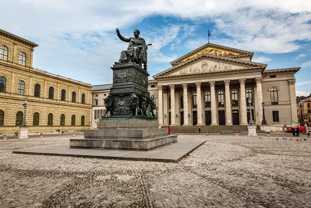 Germany - Munich - The National Theatre of Munich, Located at Max-Joseph-Platz Square in Munich, Bavaria, Germany