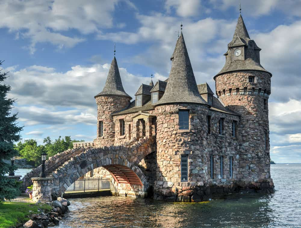 United States - New York - Power House of Boldt Castle in Thousand Islands, New York, USA.