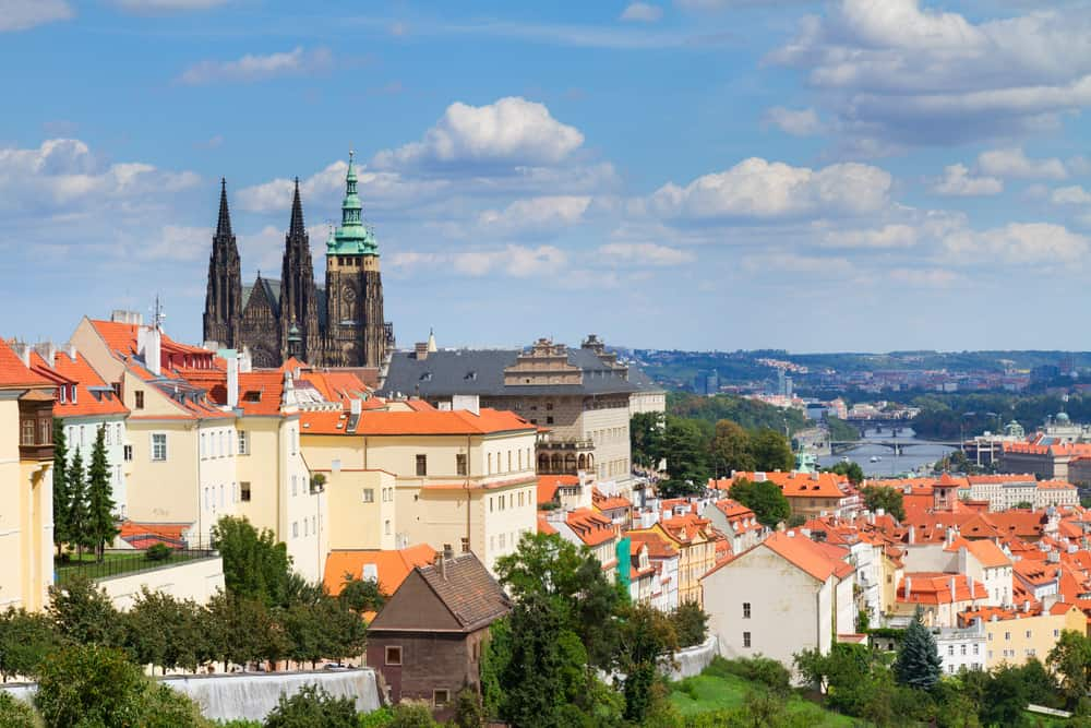 view of of Prague from Hradcany district, Czech Republic