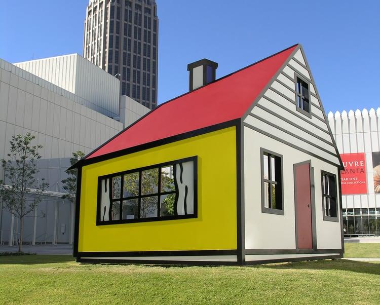 High Museum colorful child fun house, Atlanta