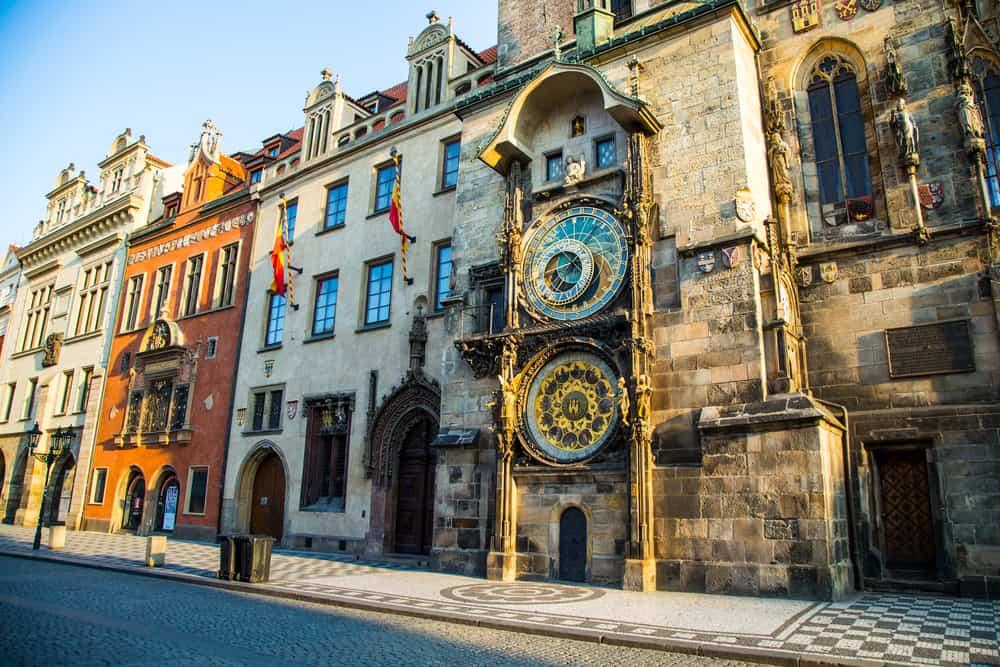 Astronomical clock in Prague, Czech Republic, Europe