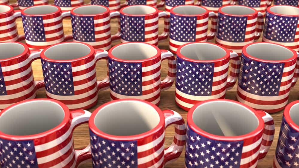 USA - Souvenir American Flag Mugs