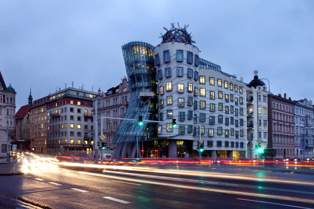 Czech republic - metropolises Prague - modern architecture - Dancing home