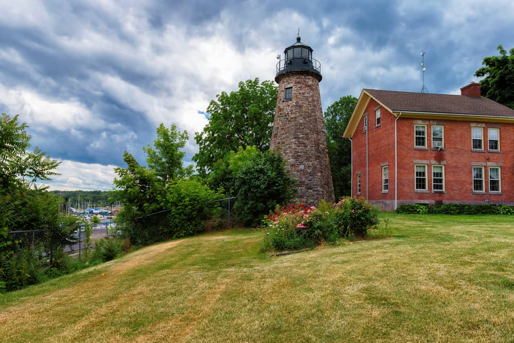 United States - New York - Charlotte Genesee Lighthouse, Lake Ontario in Rochester, New York, USA