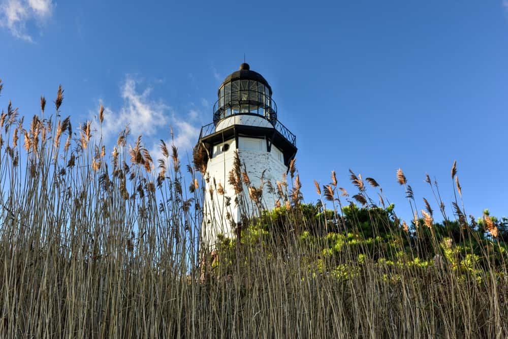 United States - New York - The Montauk Point Lighthouse located adjacent to Montauk Point State Park, at the easternmost point of Long Island, in the hamlet of Montauk in the Town of East Hampton in Suffolk County, New York.