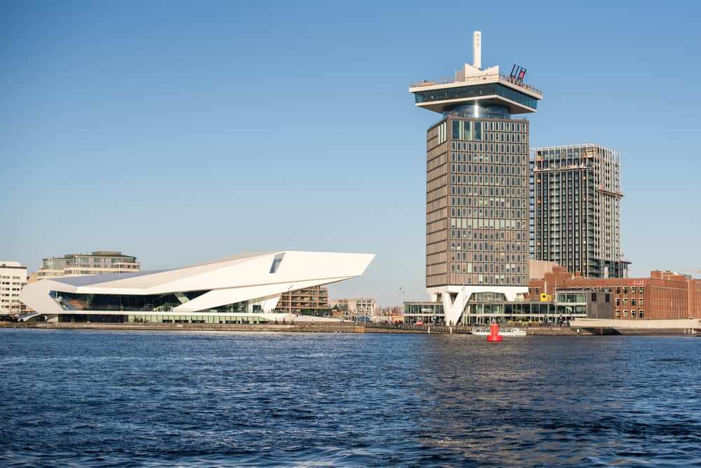 The A'dam Tower - a high building in Amsterdam with swing standing