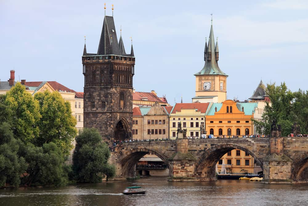 Prague Old Town with the Bridge Tower and Charles Bridge