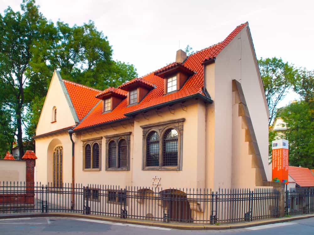 Pinkas Synagogue in Jewish Town of Prague, Czech Republic.
