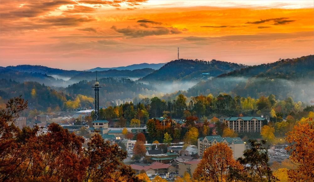 Gatlinburg cityscape Tennessee
