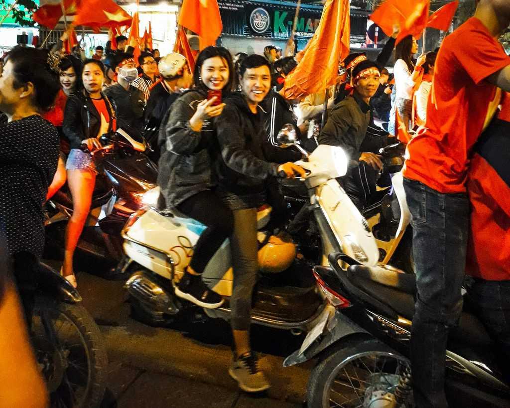 Vietnam - Hanoi - Celebrations Vietnam Flag