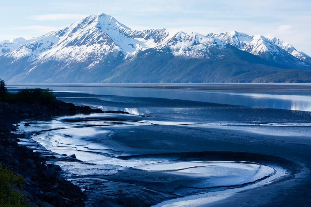 Anchorage to Seward TurnAgain Arm mud flats