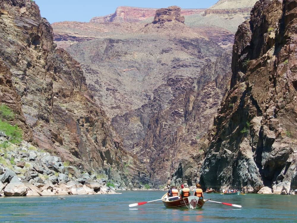 Grand Canyon rafting dory