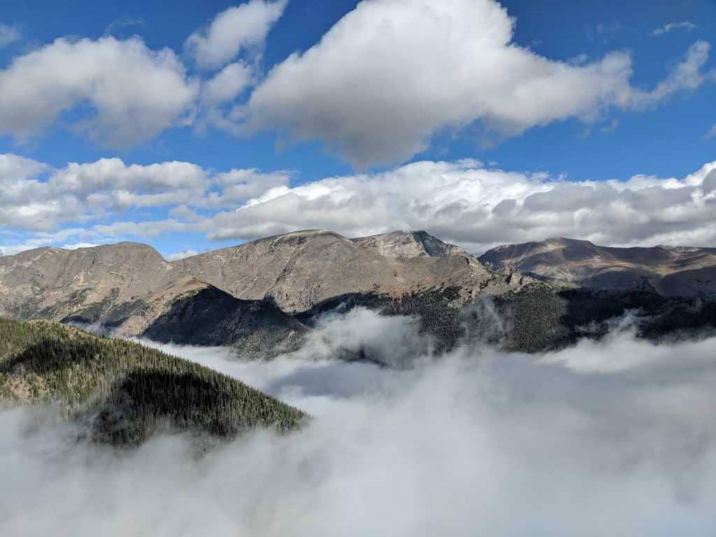 Rocky Mountain National Park Trail Ridge Road Scenic Drive in Colorado