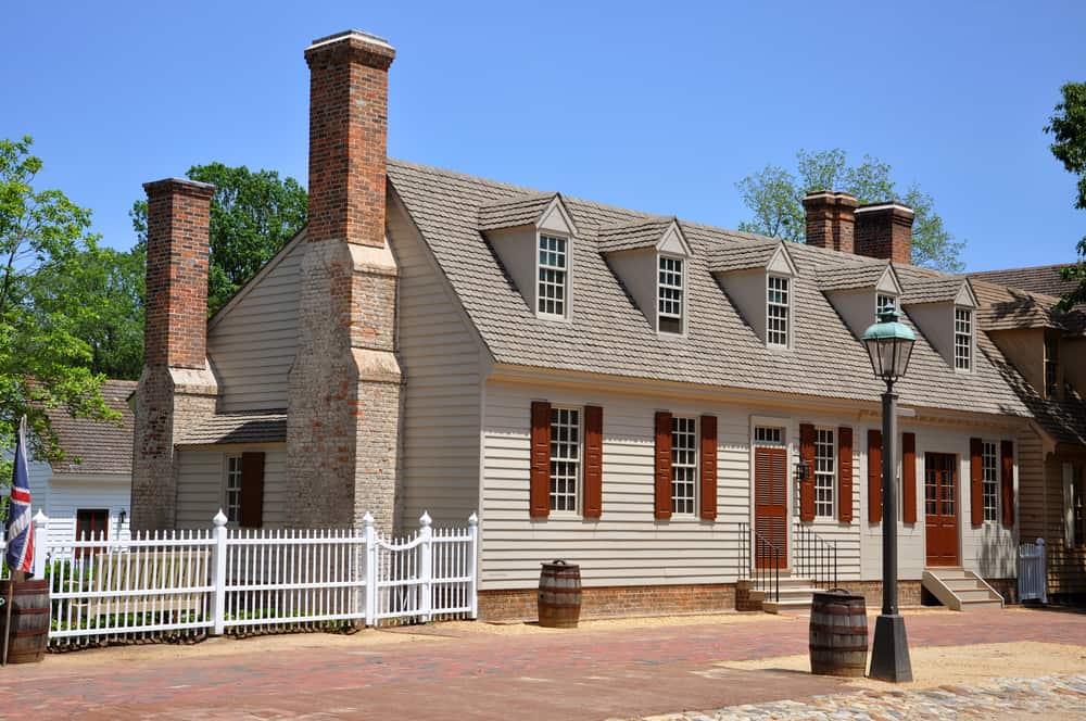 Antique House in Colonial Williamsburg, Virginia, USA