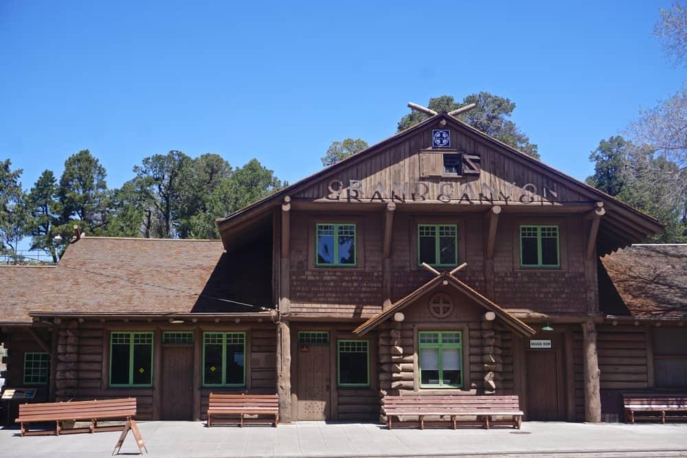Grand Canyon National Park, Arizona, USA: The Grand Canyon Depot (1910), at the South Rim of the Grand Canyon, is a designated National Historic Landmark.