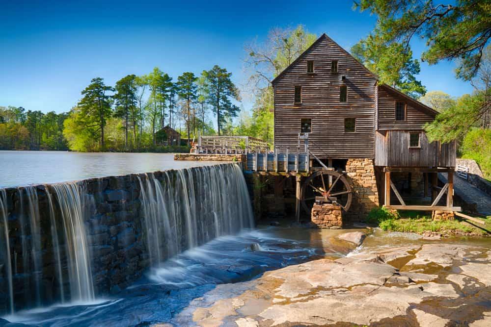 USA - North Carolina - Historic Yates Water Mill in Raleigh, North Carolina
