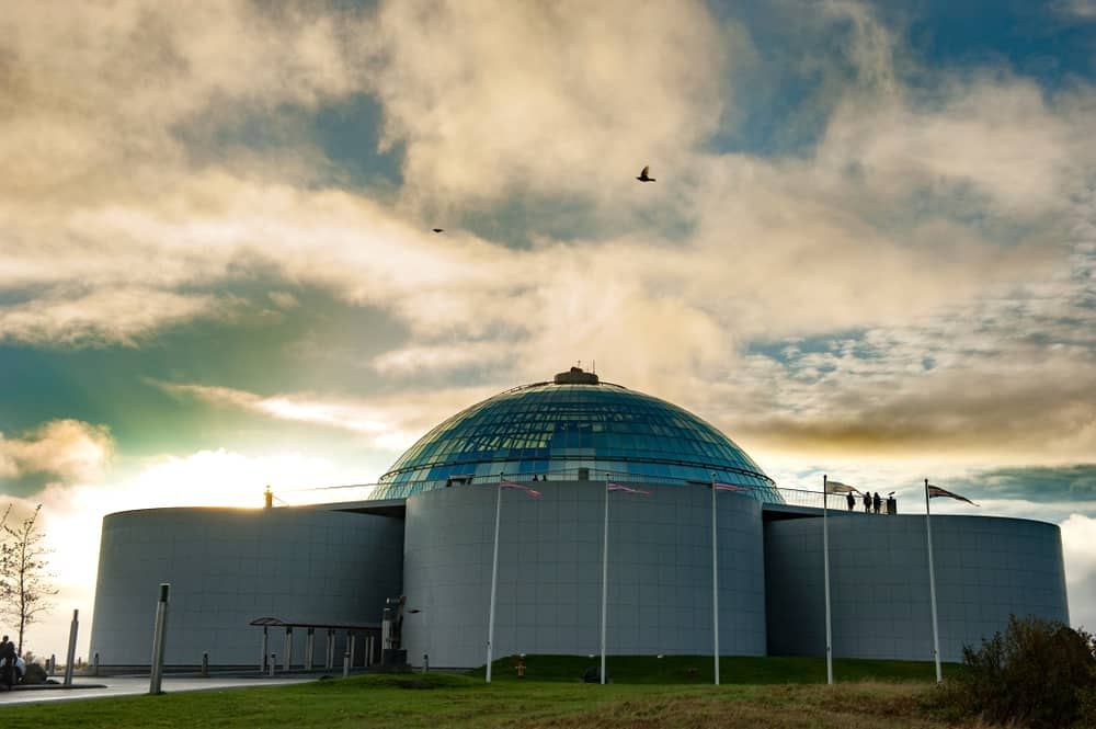Iceland - Reykjavik - Perlan Perlan Built in 1988 on top of Oskjuhlid Hill, Perlan in Reykjavik is where beauty meets function as a glass dome sits atop the city's reservoirs in six huge tanks, each with the capacity to hold over