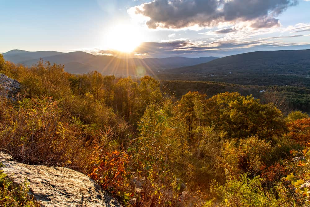 USA - Massachusetts - Sunset in the Berkshires along the Mohawk Trail close to Williamstown