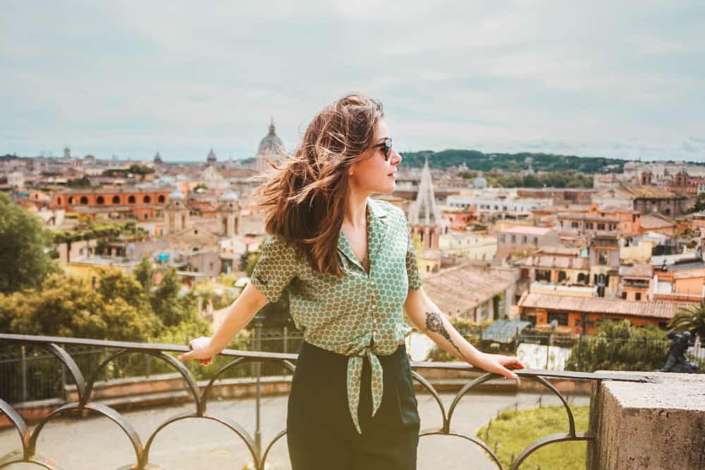 Italy - Rome - Woman with Tattoo - Travel Tattoo Ideas