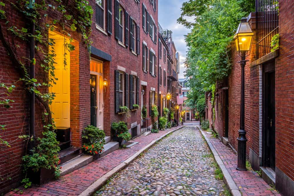 USA - Massachusetts - Acorn Street, Boston